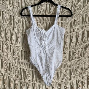 Free people lace up body suit